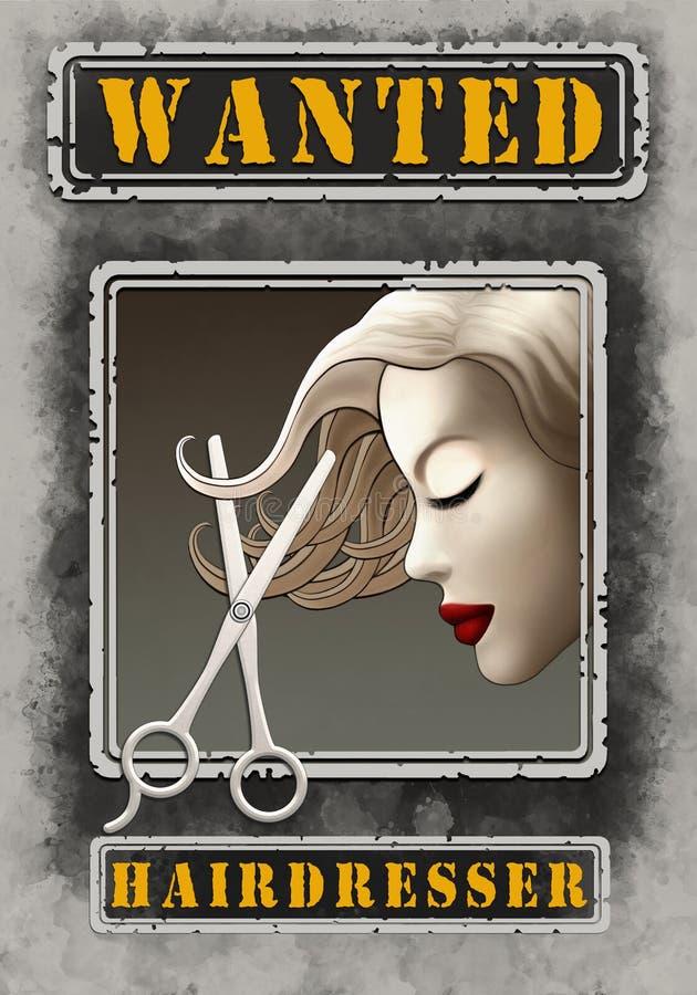Resolución querida de Poster Illustration High del peluquero stock de ilustración