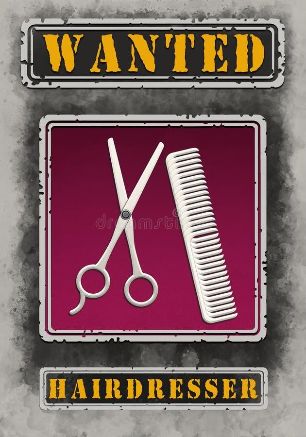 Resoluci?n querida de Poster Illustration High del peluquero libre illustration