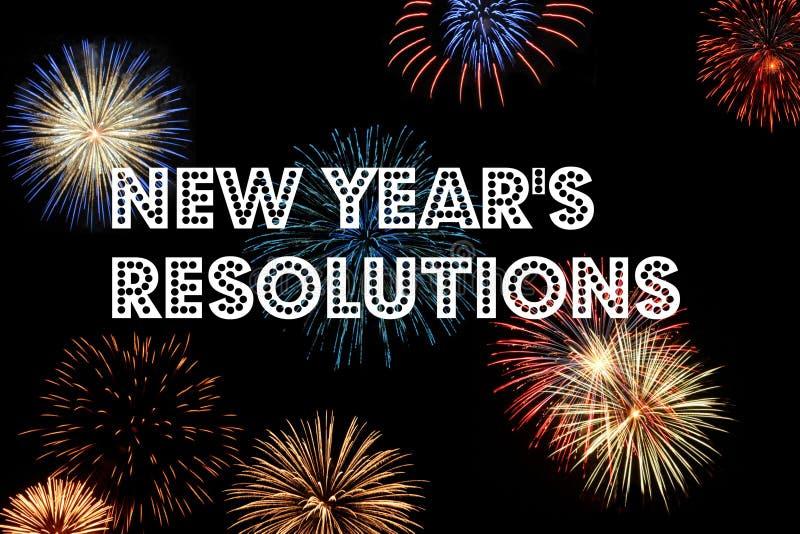 Resoluciones del Año Nuevo imagenes de archivo