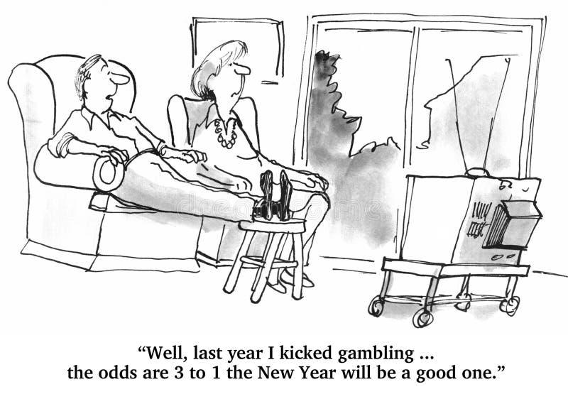 Resoluciones del Año Nuevo stock de ilustración