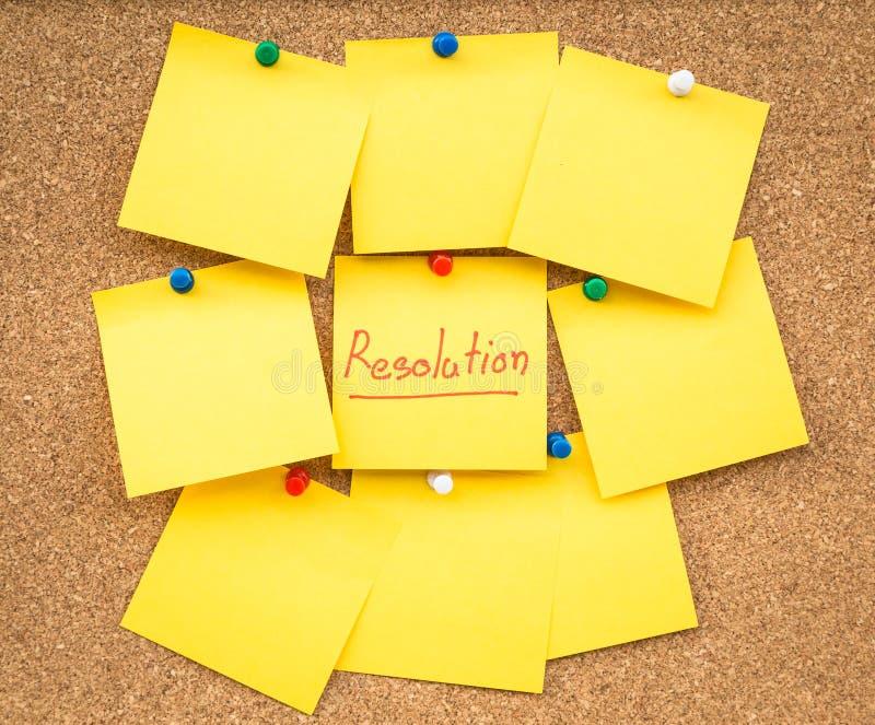 Resoluciones en blanco pegajosas de la nota por Año Nuevo imágenes de archivo libres de regalías