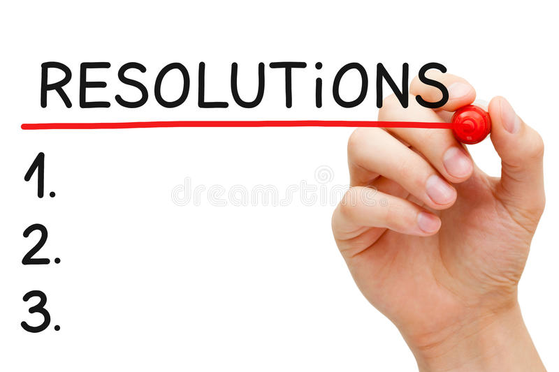 Resolutions List royalty free stock images