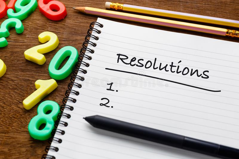 2018 Resolutions royalty free stock images