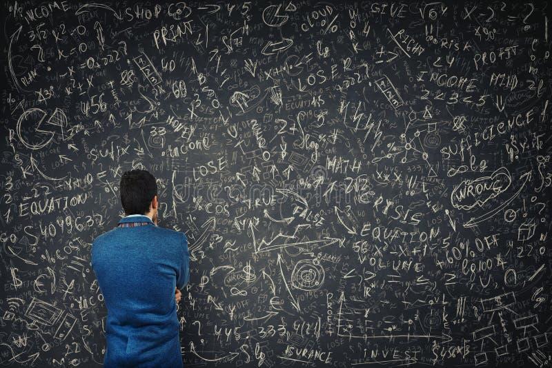 Resolva equações da matemática imagem de stock royalty free