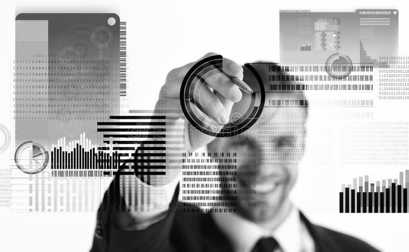 Resolva o bloco ganham o lucro Tecnologia de Blockchain Dinheiro digital futuro Moeda cripto do investimento Virtual interativo d imagem de stock