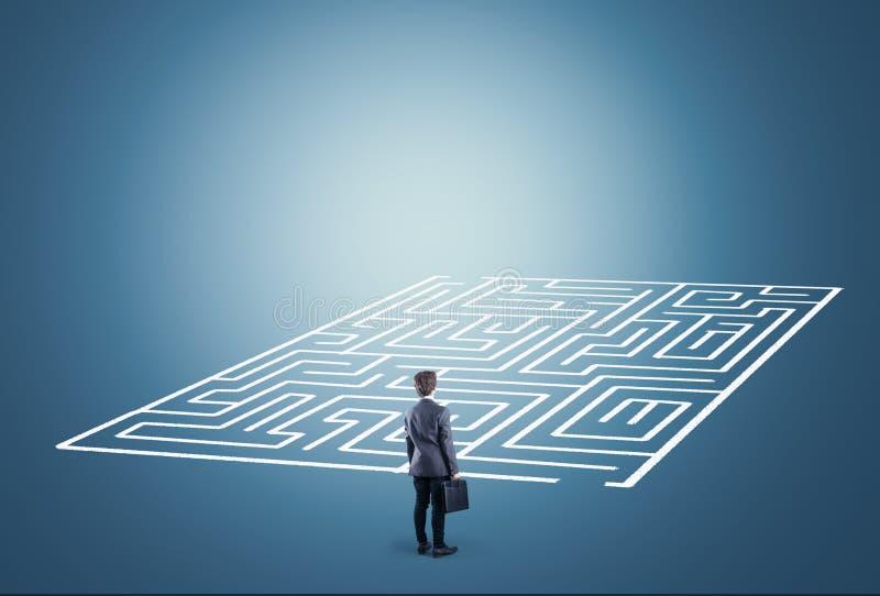 Resolva o labirinto imagens de stock royalty free