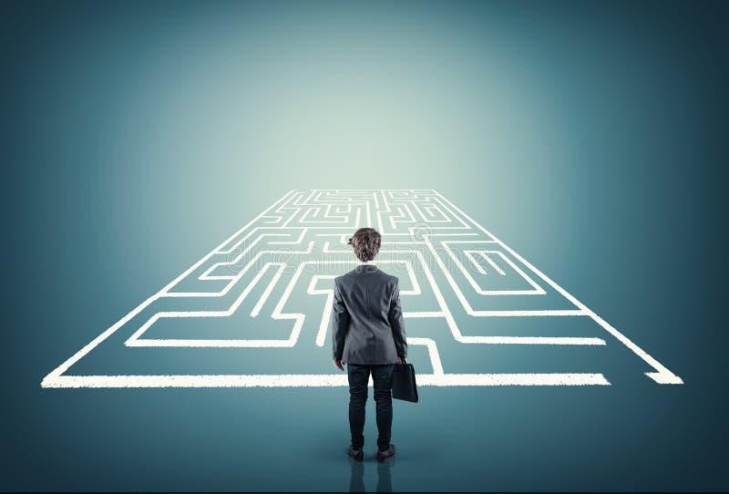 Resolva o labirinto foto de stock royalty free