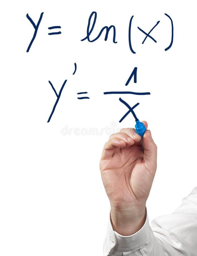 Resolvendo o cálculo diferencial. fotografia de stock royalty free
