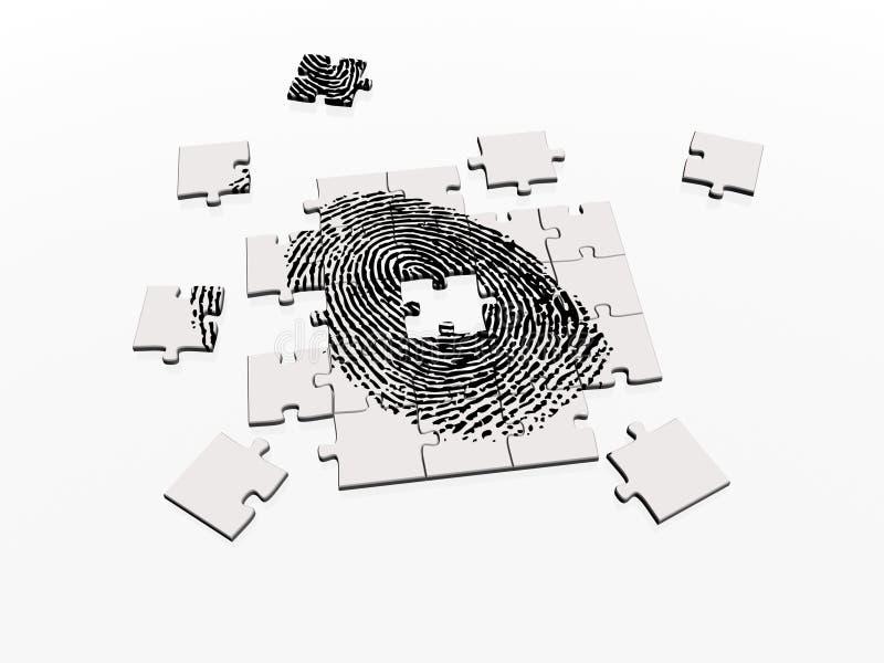 Resolvendo o enigma da impressão digital ilustração stock