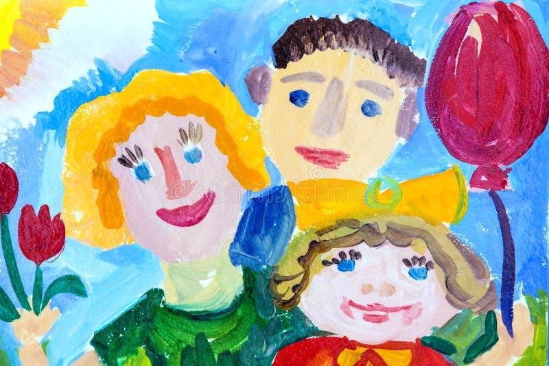 Resor för grupper av barnteckningar av staden Kharkiv arkivfoto
