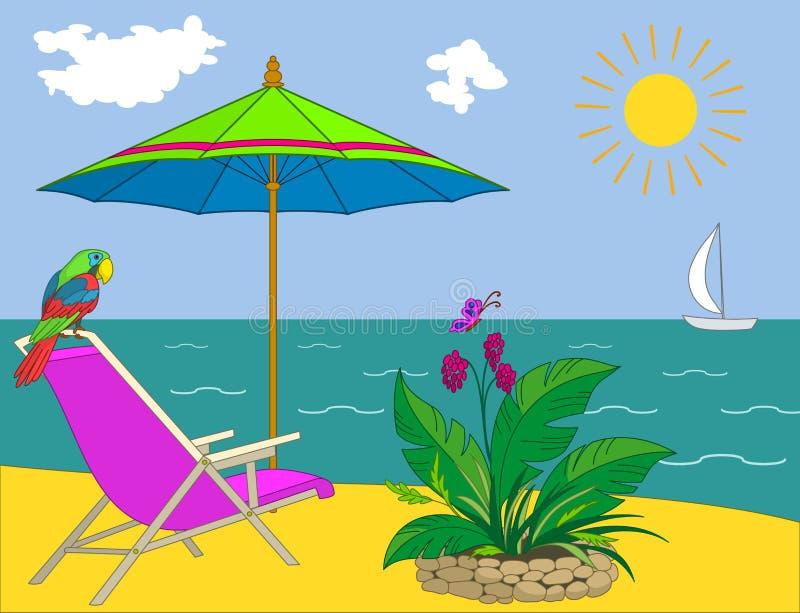 Resort Beach Royalty Free Stock Photography