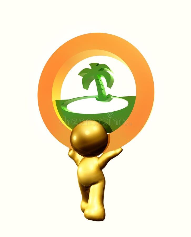 Download Resort beach icon symbol stock illustration. Illustration of tiny - 8264000