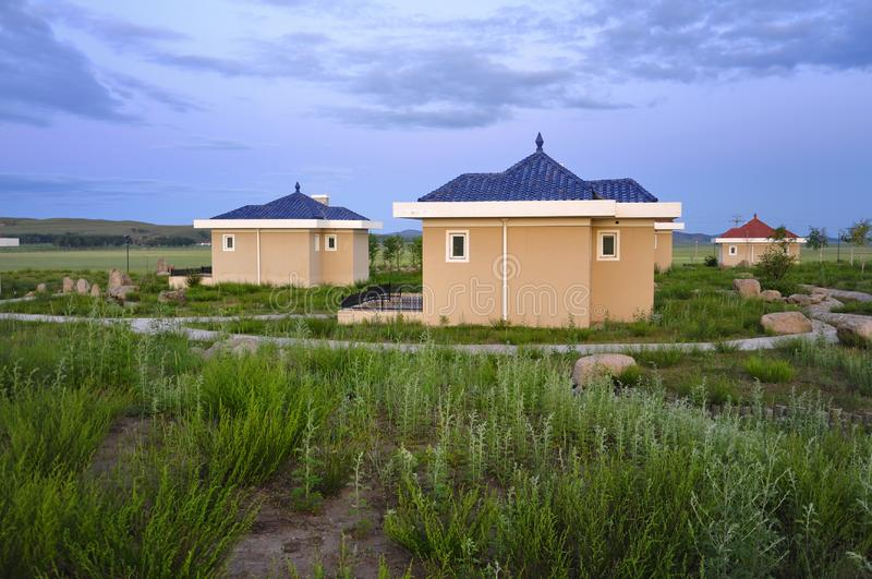 Download Resort Cabins stock image. Image of grassland, green - 20947539