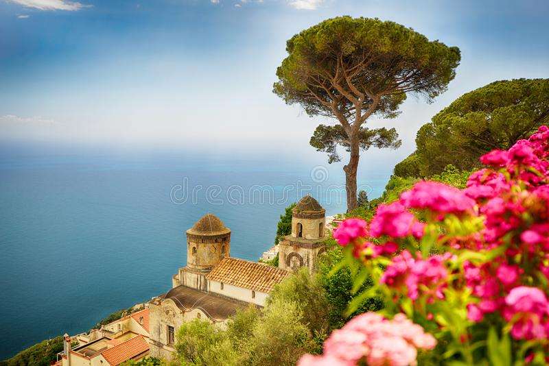 Resort city. At Amalfi coast in Southern Italy royalty free stock photos