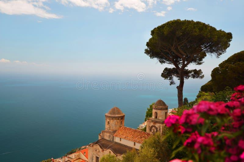 Resort city. Ravelo resort city at Amalfi coast in Southern Italy stock photography