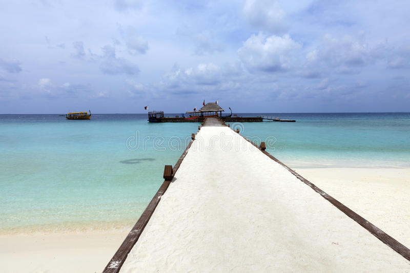 Download Resort dock stock photo. Image of pathway, calm, atoll - 24338018