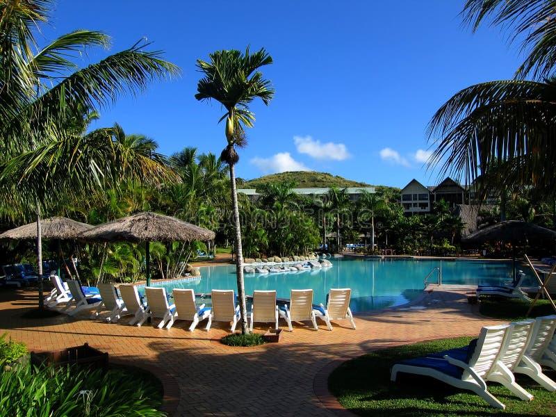 Resort at Fiji royalty free stock image