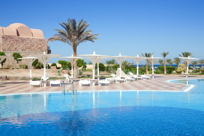 Download Resort hotel with a pool stock photo. Image of destinations - 13075198