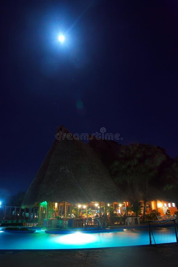 Resort Hotel/Pool at Night stock photos