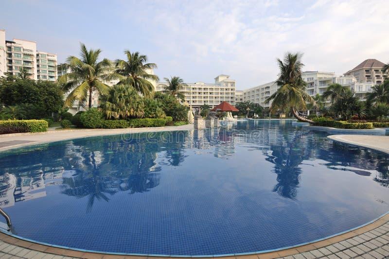 Resort hotel in sanya. Bay,Hainan Island, China stock photos