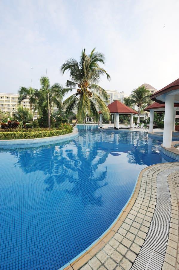 Resort hotel in sanya. Bay, Hainan Island, China stock images