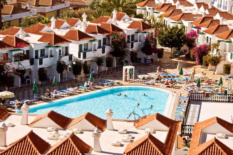 Resort houses stock photo