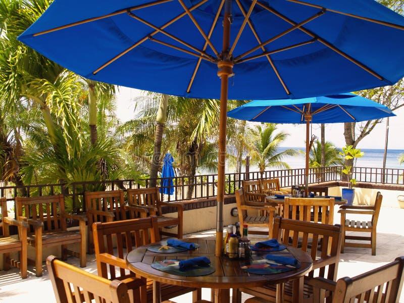 Resort Patio royalty free stock image