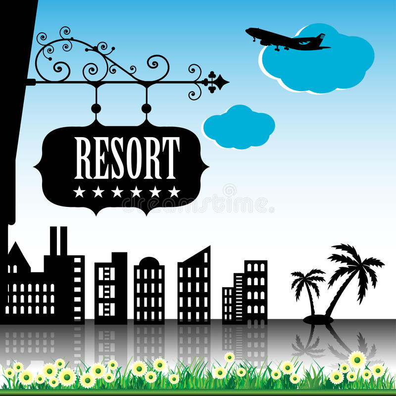 Download Resort plate stock vector. Illustration of business, artistic - 18980738
