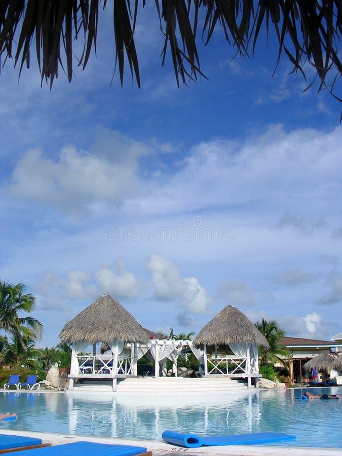 Resort pool royalty free stock image