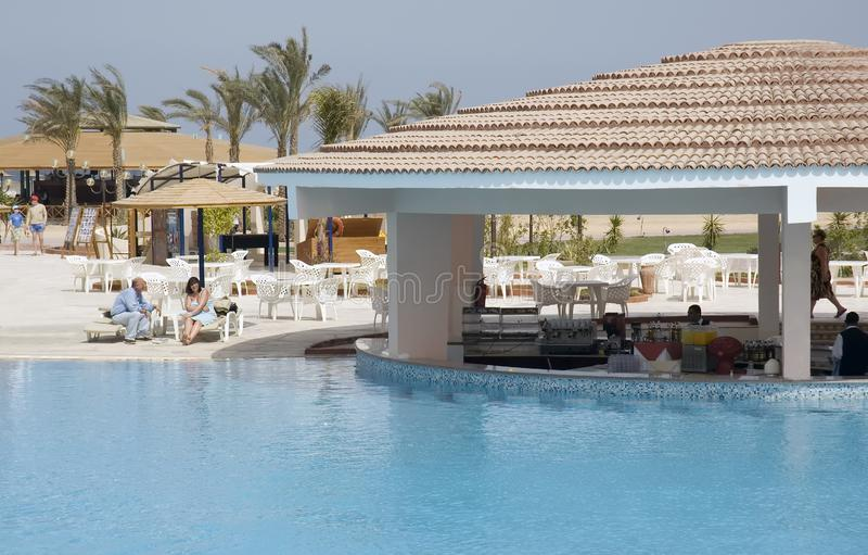 Resort pool bar royalty free stock images