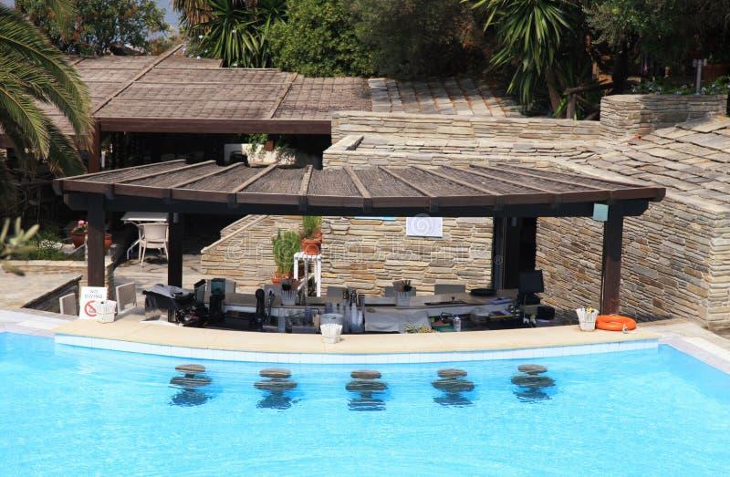 Resort Pool Bar Stock Image Image Of Palm Counter Fitness 33785391