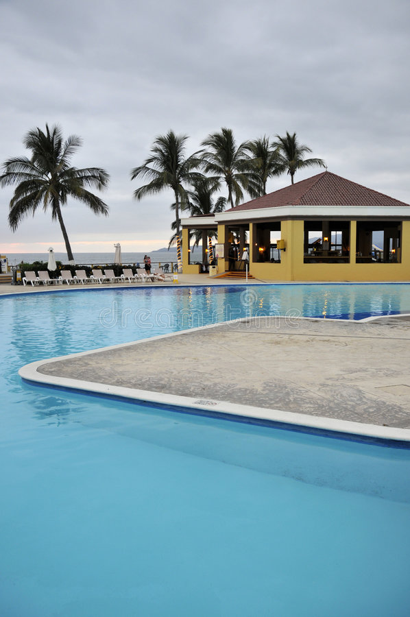 Free Resort Pool In Mexico Royalty Free Stock Photography - 8774437