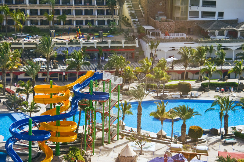 Resort in Puerto Rico, Canary stock image