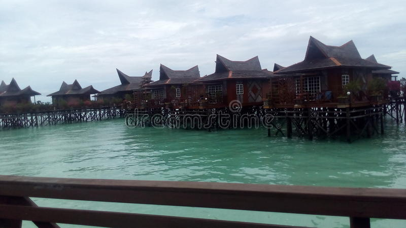 Resort in Pulau Mabul royalty free stock photography