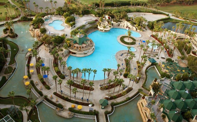 Resort recreation area royalty free stock photos