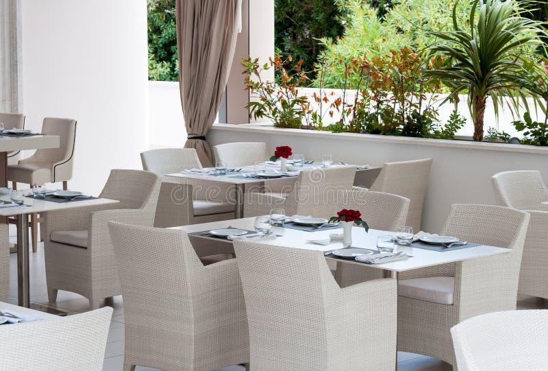 Resort restaurant, Croatia royalty free stock image
