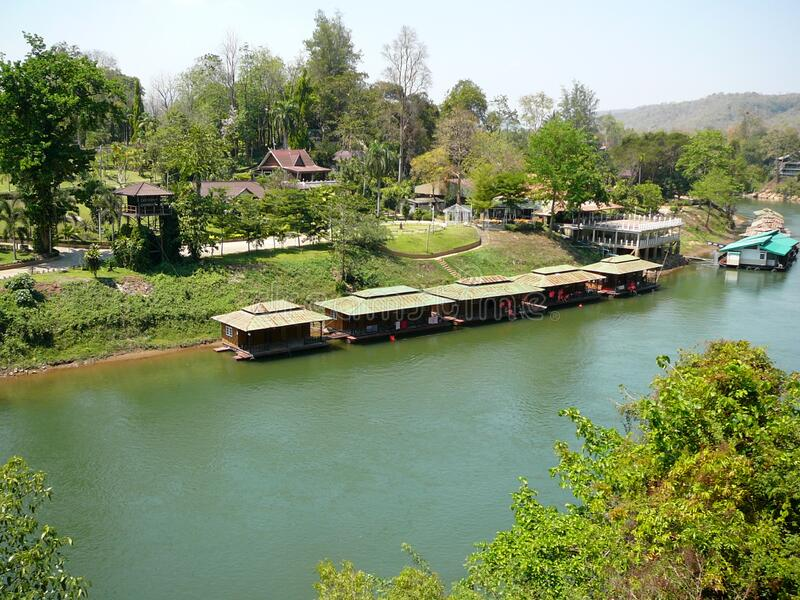 The River Kwai in Western Thailand stock photos