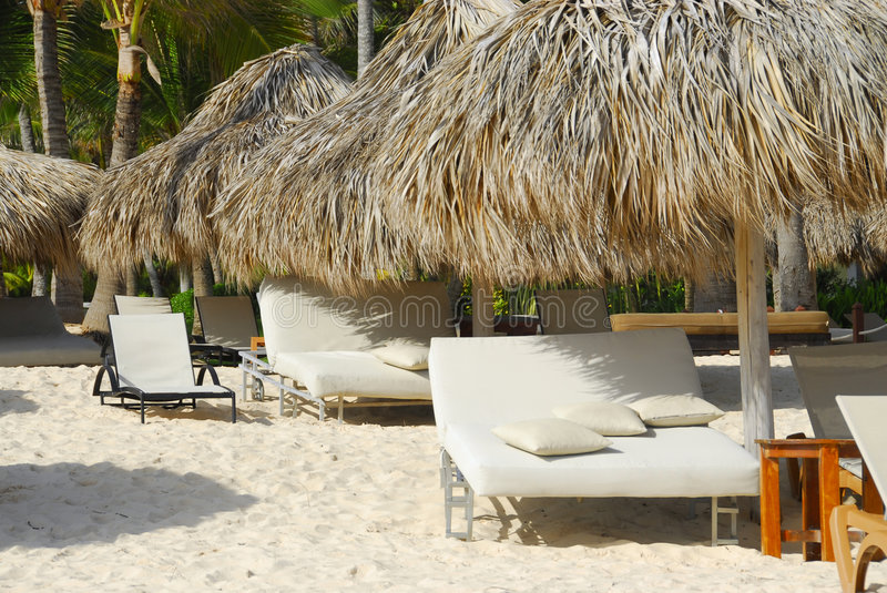 Resort and Spa. In tropical beach in Punta Cana royalty free stock image