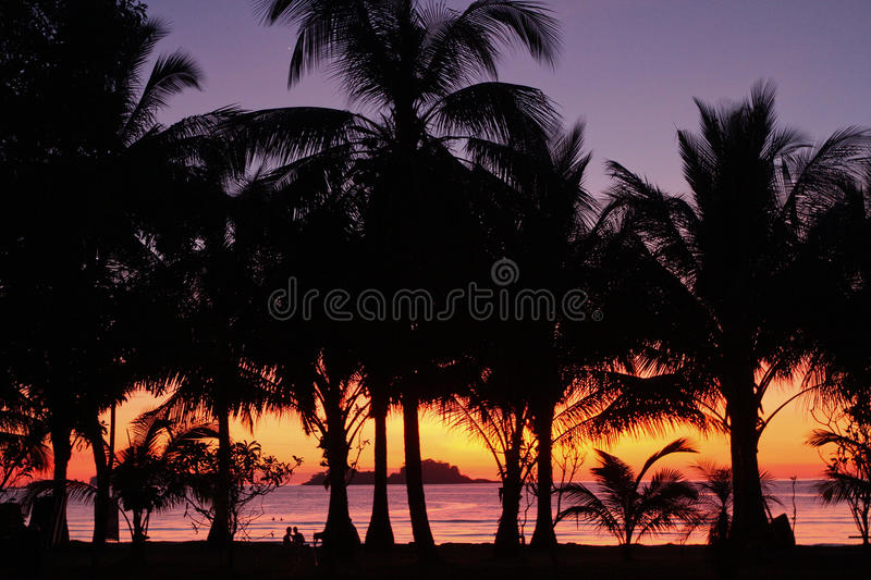 The resort at sunset royalty free stock images