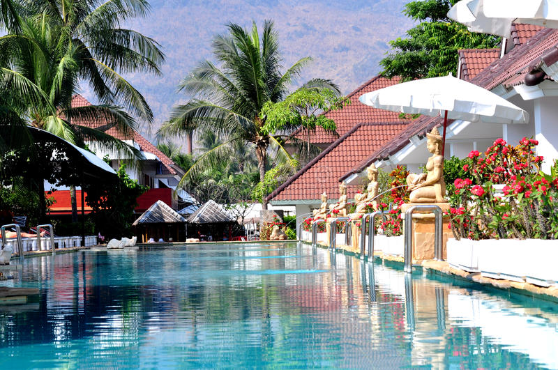 Download Resort in Thailand stock image. Image of thailand, blue - 13871171