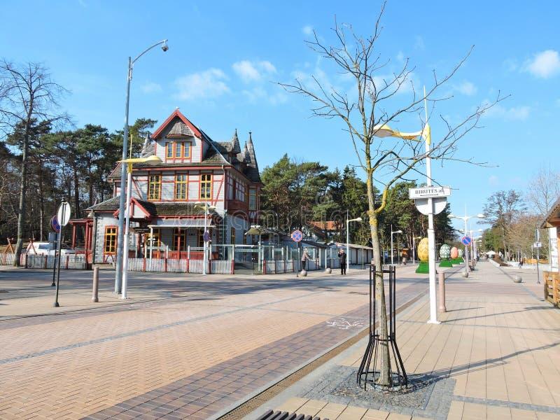Resort town Palanga, Lithuania royalty free stock photography