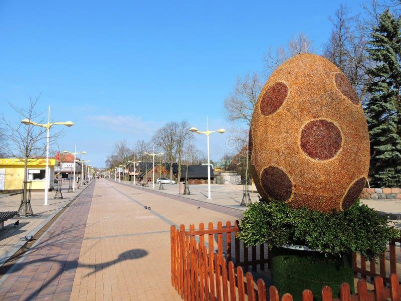 Resort town Palanga, Lithuania stock images