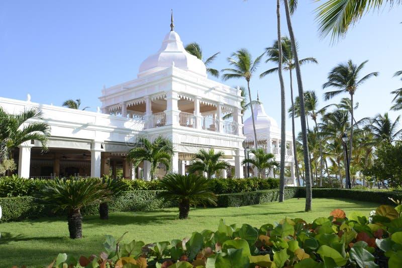 Resort in the tropics stock photography