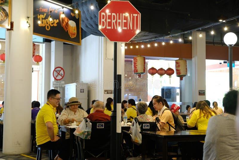 Resort World Sentosa, Singapore - March 8, 2019 : Malaysian Food Street located inside Resort World Sentosa. stock photos