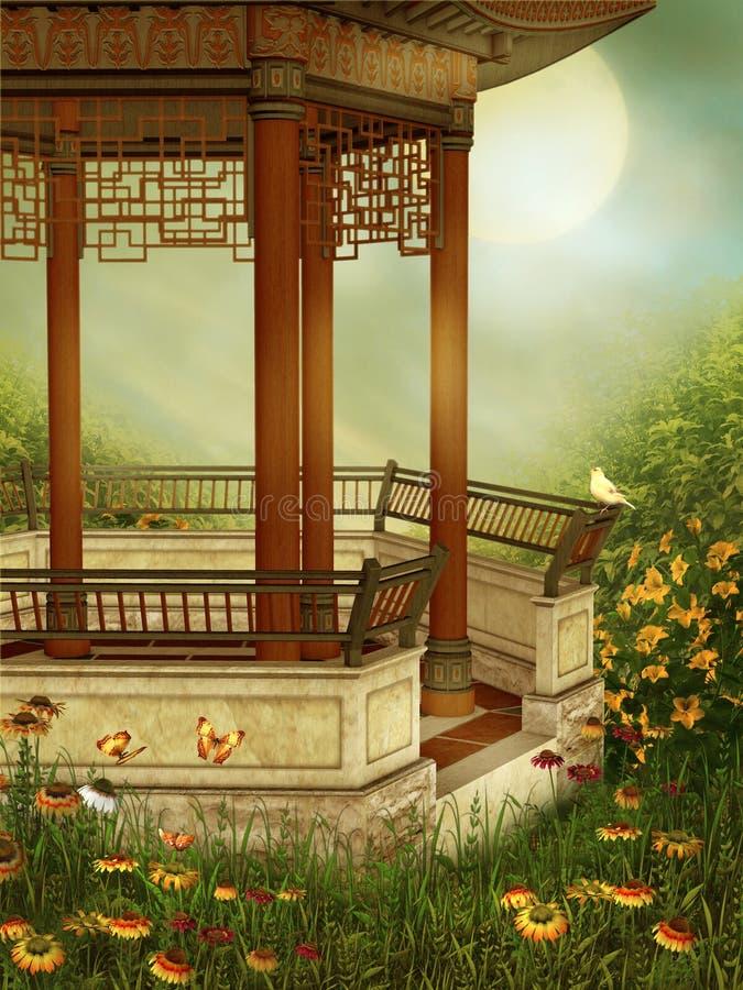Resorte oriental 3 stock de ilustración