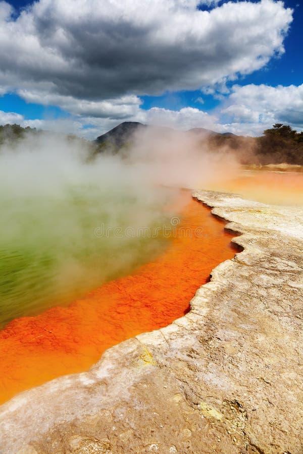 Resorte termal caliente, Nueva Zelandia imagen de archivo libre de regalías