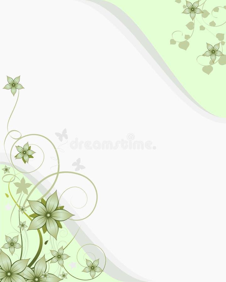 Resorte verde ilustración del vector