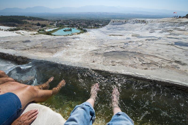 Resortes calientes de Pamukkale, recorrido a Turquía foto de archivo libre de regalías