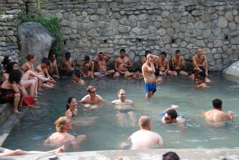 Resortes calientes en Nepal fotografía de archivo libre de regalías