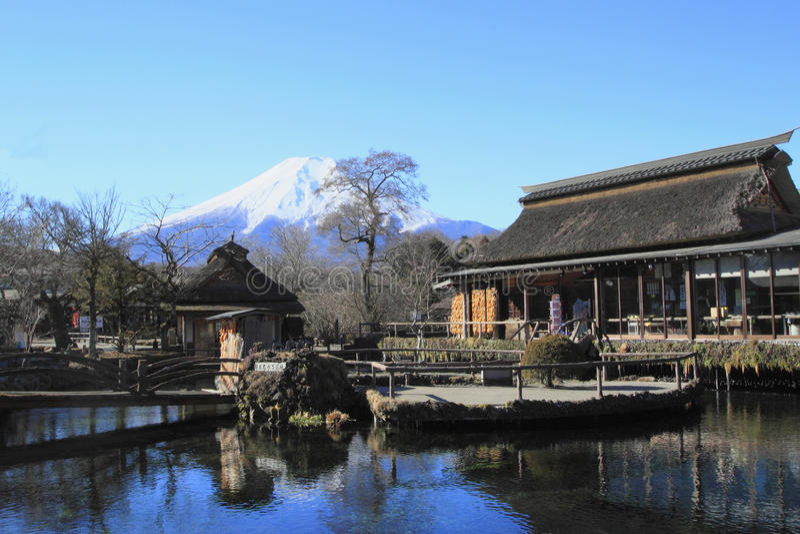Resortes de Mt.Fuji foto de archivo